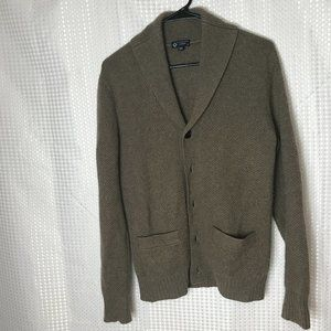 J CREW 100% Cashmere Brown Button Cardigan